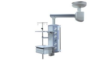 Operating Room Equipment / Mechanical Horizontal Pillar Single Arm Surgical Pendant / Medical Ceiling Pendant