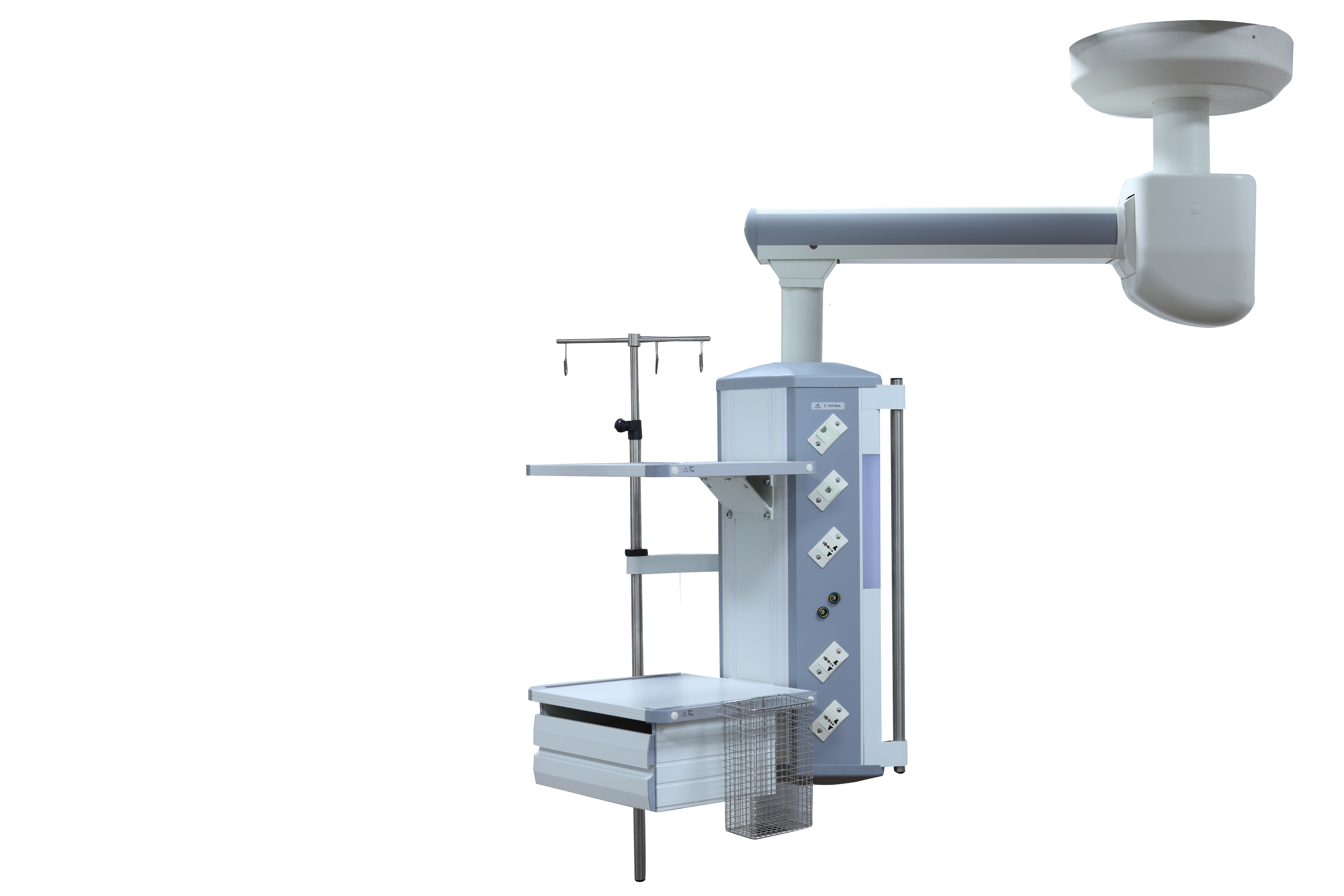 Operating Room Equipment / Mechanical Horizontal Pillar Single Arm Surgical Pendant / Medical Ceiling Pendant Featured Image