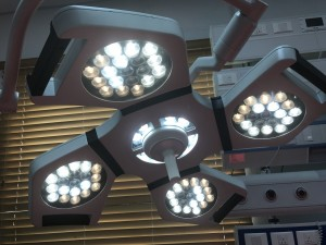 Ceiling Mounted LED shadowless operation lamp