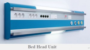 multifunctional hospital bed head units medical bedhead
