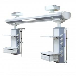 Custom logo printed double arm ICU ceiling mounted bridge