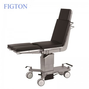 New Design 4 Big Wheels Germany Imported Manual Hydraulic Medical Operating Bed