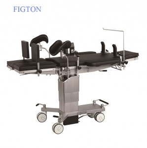 Medical Manual Hydraulic Hospital Operation Table with Germany Imported Big Castors