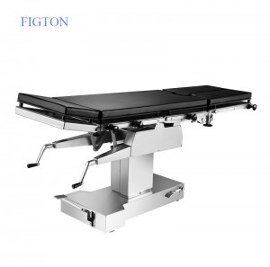 Stainless Steel Manual Operating Table with Kidney Bridge